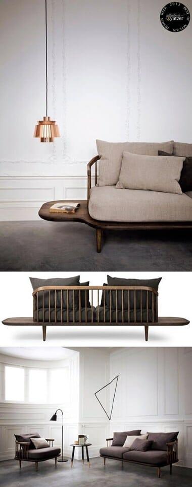 Mẫu sofa gỗ sồi - Ảnh: pinterest.com
