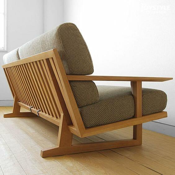 Mẫu sofa gỗ - Ảnh: pinterest.com
