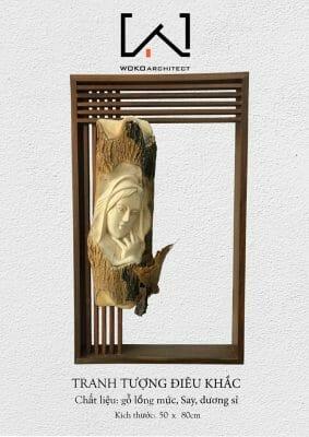 Mẫu tranh gỗ điêu khắc do WOKO thiết kế và sản xuất