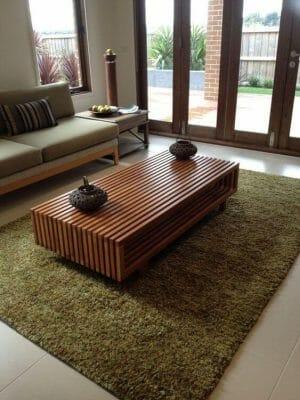 bàn sofa phòng khách gỗ tự nhiên