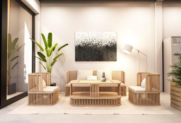 Sofa gỗ cho phòng khách