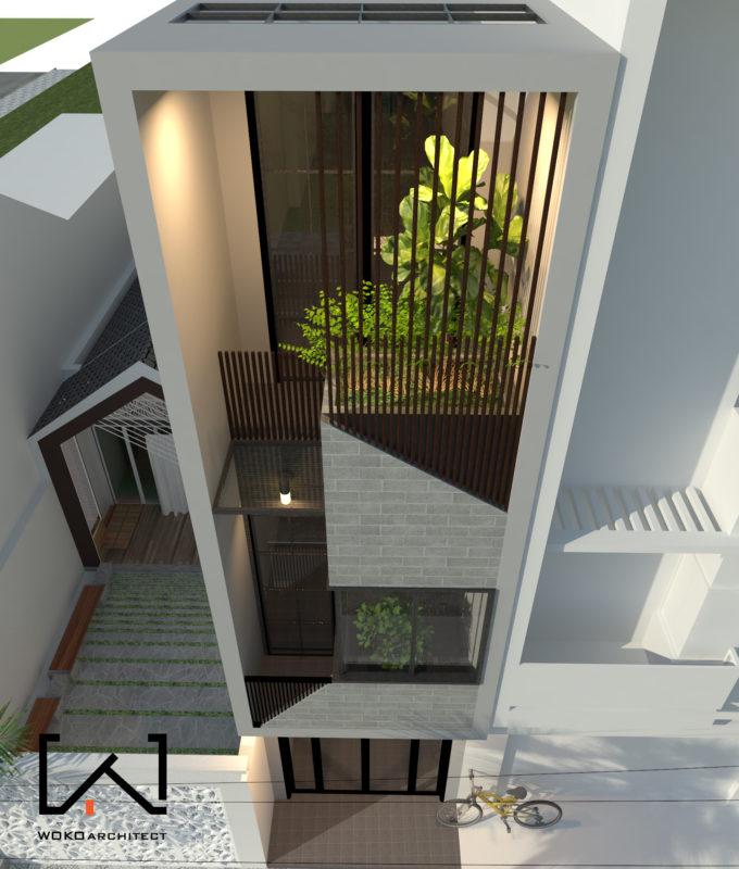 Mặt tiền nhà 1 trệt 3 lầu đẹp ở Kon Tum